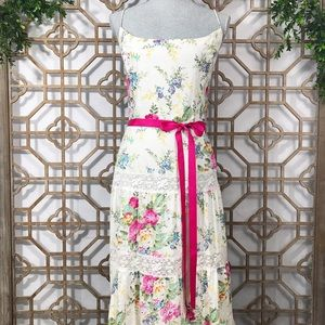 Jessica Howard Floral Thin Strap Maxi Dress